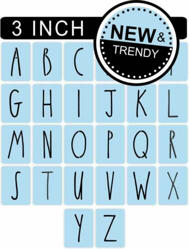 Rae Dunn Inspired Stencil Letters Free Shipping Letters Stencil 3 Inch