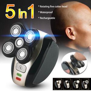 5In1-4D-Hombres-Recargable-Afeitadora-USB-electrico-sin-cuerda-cabeza-Trimmer-Clipper