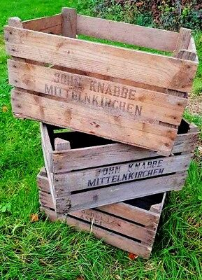 Rare Wooden Vintage Wooden Farm Crate - Storage Display Drawer Unit Shelves` Gematigde Kosten