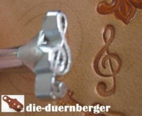PUNZIEREISEN Musik E568 Notenschlüssel Lederwerkzeug Celtic punzieren Riemen
