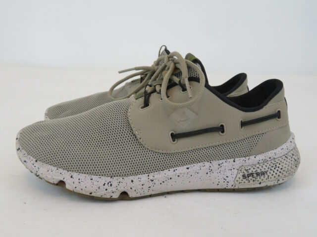 Sperry Womens 7 Seas White Camo Size 9m Sts99316 Mesh Sneaker Boat Shoes