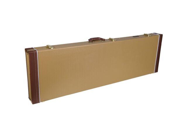 Crossrock CRW600Series Guitar Case Multi-ply Wood,Vintage Tweed/&Black,Classical