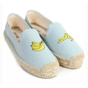 Soludus-denim-banana-patch-espadrilles-sz-8