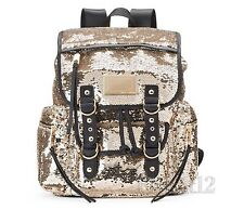 Juicy Couture Gold Sequin Designer Backpack