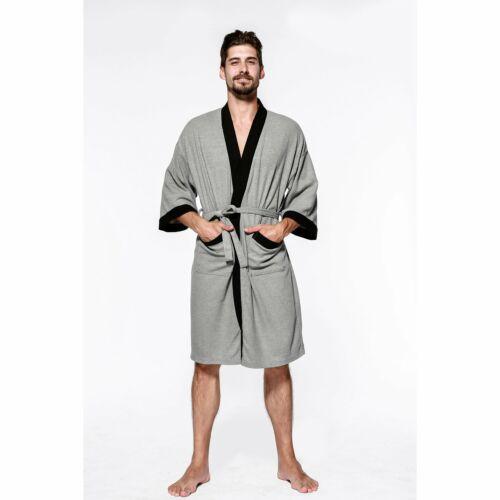 Herren Waffel Bademantel Morgenmantel Pique Reisebandemantel Saunamantel Kimono