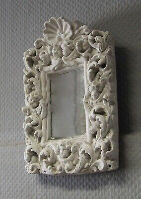 Stuck Relief Spiegel Motivplatte Engel Putto 28cm Stuckrahmen Stuckleiste Shabby Letzter Stil