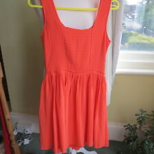 Beautiful Reiss Silk Dress in Orange Fit and Flare size 8