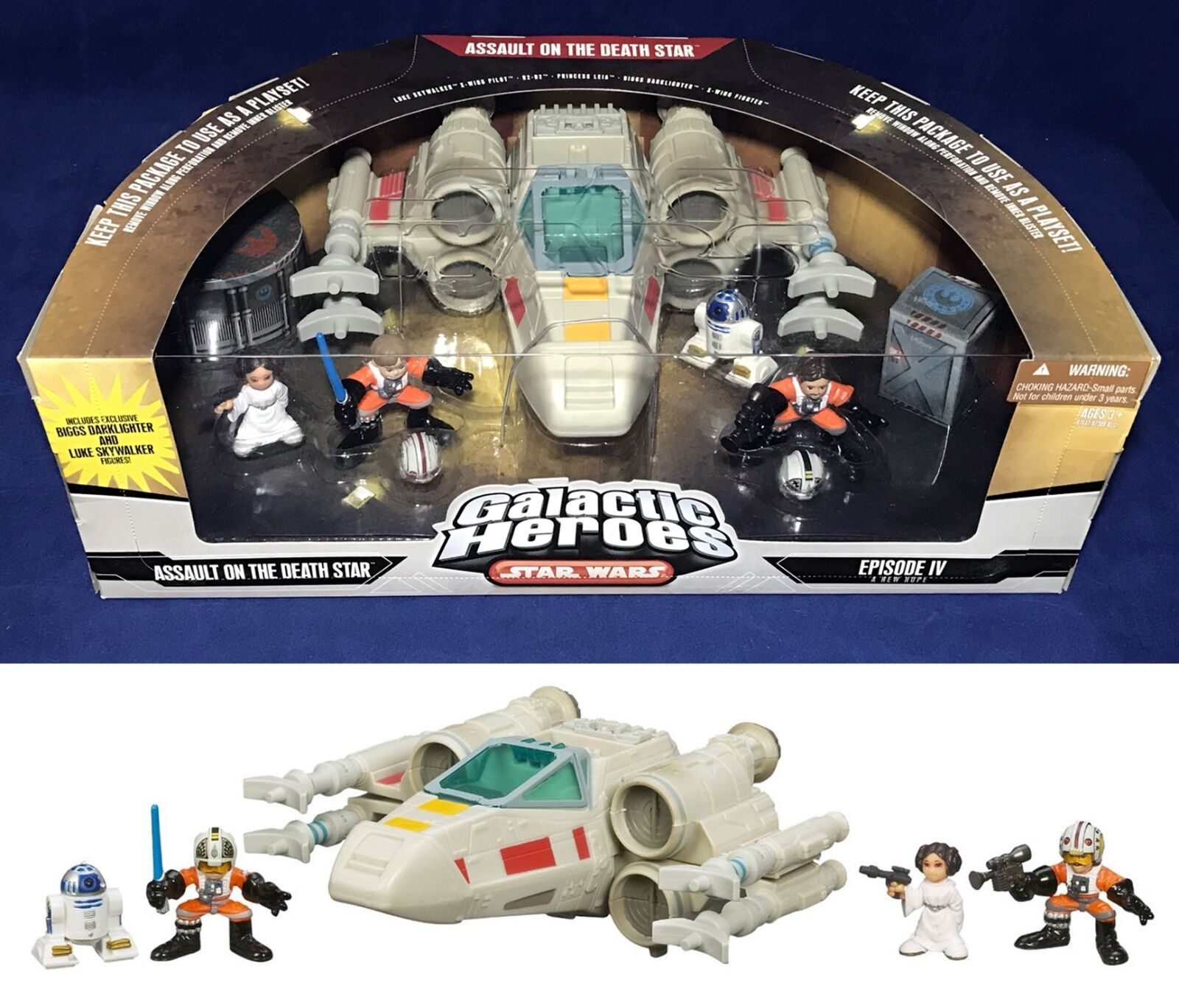 NEW - Star Wars Galactic Heroes ASSAULT ON DEATH STAR - Biggs - X-WING FIGHTER