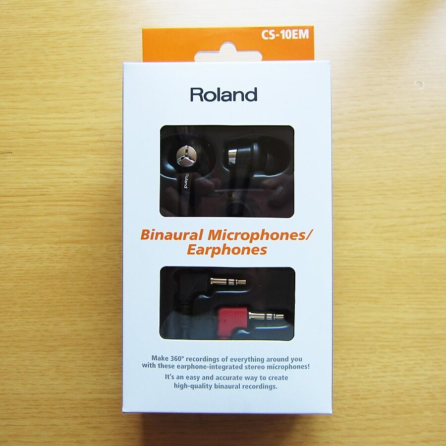 CS-10EM   Official Roland binaural microphone   earphone (Condenser microphone)