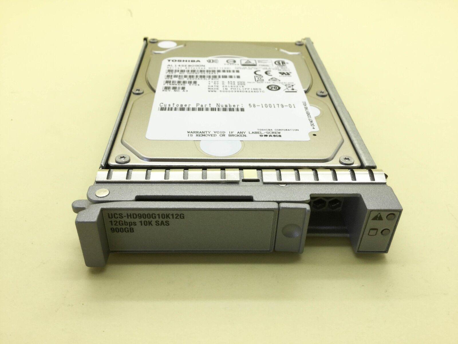 """Cisco UCS-HD900G10K12G Seagate 900GB HDD Hard Drive 10K SAS 2.5/"""" 12Gb//s"""