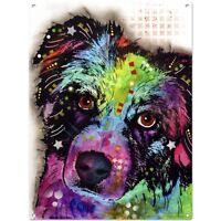 Aussie Australian Shepherd Dean Russo Dog Sign Pet Steel Wall Decor 12 X 16