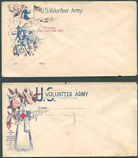 USA - ARMY VOLUNTEER SECESION WAR 2 Different Covers VF