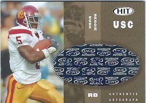REGGIE-BUSH-2006-HIT-GOLD-AUTO-Autograph-RC-039-d-24-250-USC-New-Orleans-Saints-RB