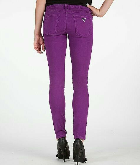NWT GUESS BRITTNEY SKINNY PURPLE JEANS SIZE 23