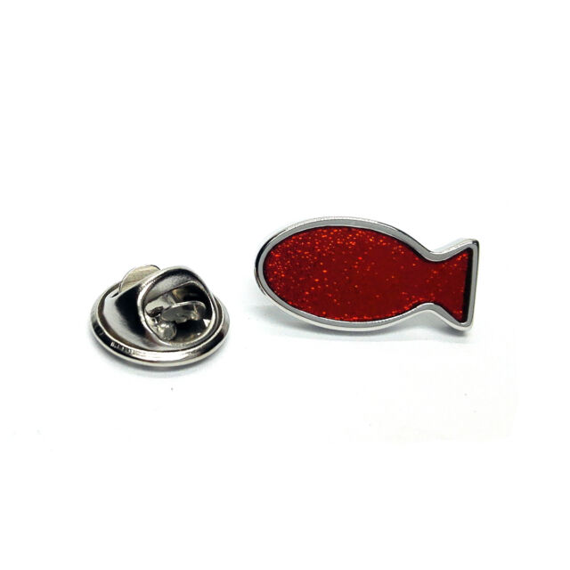 Red Fish Lapel Pin Badge X2AJTP599