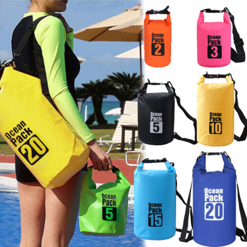 Sack Canoe Waterproof Floating Boating Kayaking Camping Backpack PVC Dry Bag