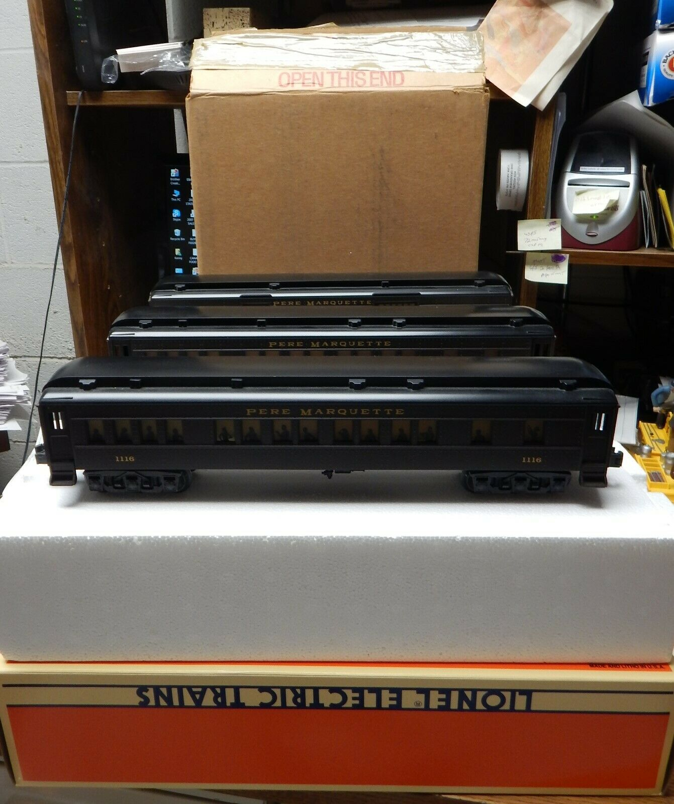 LIONEL HEAVYWEIGHT PERE MARQUETTE 3 CAR SET 6-19039,19040,19041 USED IN BOXES