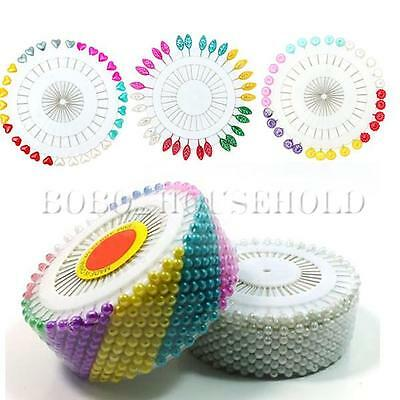 Round Pearl Snag Safety Pin Craft Dressmaking Hijab Scarf Tailor Pins Wheel