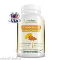 Organic Turmeric Curcumin Supplement w Enhanced Bioperine 120 V Caps - Nutrivive