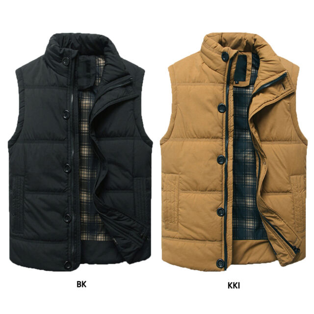 2016 Men's Casual Quilted Jacket Vest Coat Winter Autumn Warm Cotton Waistcoat