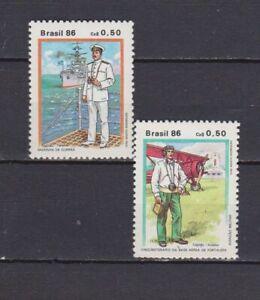 S19201) Brasilien Brazil 1986 MNH Neu Uniformen 2v