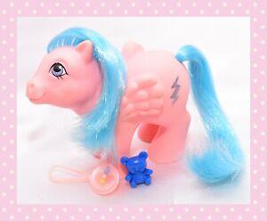 ❤️My Little Pony MLP G1 Vtg Baby Pegasus Firefly Glitter Lightning Bolt 1983❤️