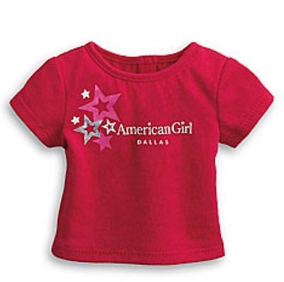 """NWT AMERICAN GIRL BOSTON RED FOIL STAR TEE T SHIRT TOP FOR 18/"""" BLAIRE DOLLS NIP"""