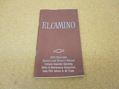 1981 Chevy El Camino ORIGINAL Owners Manual 81 MINT Chevrolet ...