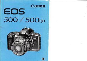 GENUINE-ORIGINAL-CANON-EOS-500-QD-FILM-CAMERA-INSTRUCTIONS-MANUAL