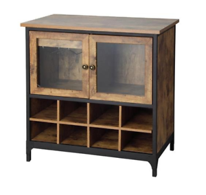 Image Is Loading Wine Cabinet Dry Bar Rustic Storage Bottle Glass