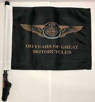 Harley-davidson® Motorcycle Part Sissy-bar Mount 110th Anniversary Flag 61400202
