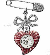 vivienne westwood heart brooch watch bnib