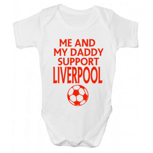Funny Liverpool FC Baby Grow Funny Liverpool Babies Clothing Sleepsuit