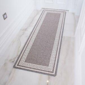 silver gray long non slip hallway runner rugs washable
