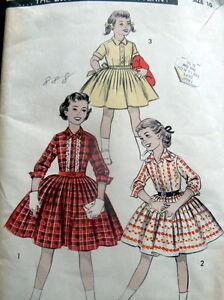 LOVELY VTG 1950s GIRLS DRESS ADVANCE Sewing Pattern 10