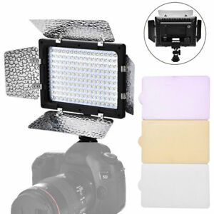 160 LED Video Light Hot Shoe Lamp Photo Studio Lighting for Canon Nikon Camera L