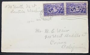Centennial-of-Baseball-Sport-Stamp-on-US-Cover-Seattle-3c-1939-USA-Letter-Y-576