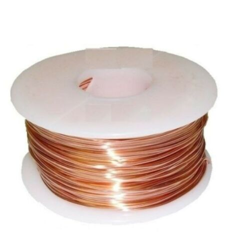 22 Ga Solid Copper Half Hard Round Wire 1//2 Lb 258Ft Spool  Real Copper wire