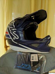 Troy Lee Designs Fiberlite Helmet D3 Silhouette Navy White Size XL 60-62cm