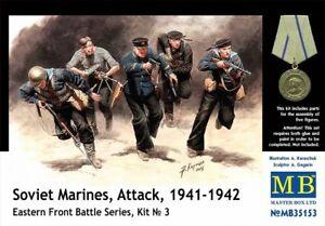 MAS35153-Masterbox-1-3-5-Scala-Modello-Kit-Sovietica-Marines-Attack