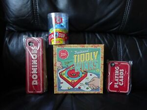 Classic-Spinning-Tin-Top-Tiddly-winks-playing-cards-amp-Dominoes-set-WOW-LOOK