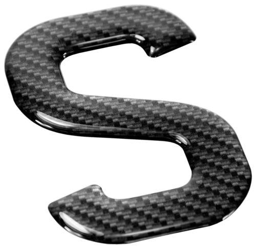 3d Gel CARBON Number Plates Domed Resin Making Letter S DIY Registration UK REG
