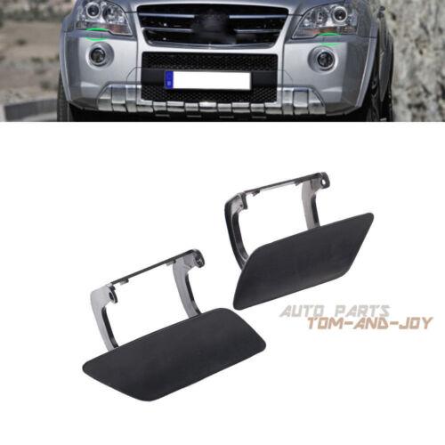 Pair Bumper Headlight Washer Cover Cap For Mercedes ML-Class W164 2008-2011