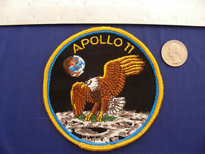 Vintage-Original-Apollo-11-Voyager-Emblems-4-034-Patch-New-Old-Stock-NASA