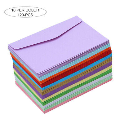 120Pcs Mini Colorful Envelopes For Greeting Festival Wedding Party Invitations