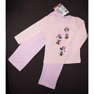 DISNEY-pyjama-MINNIE-2-3-4-5-6-7-ans-rose-coton-NEUF