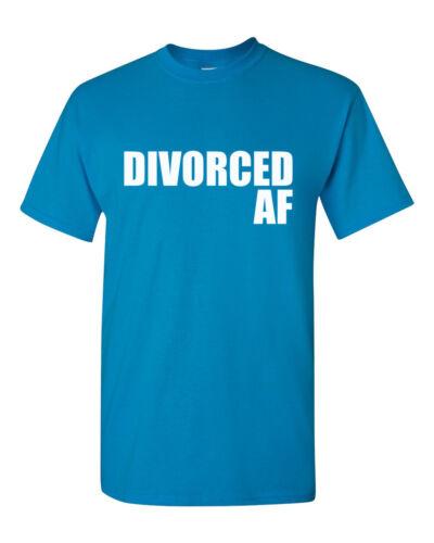 Men/'s Divorced AF Shirt Party Statement Tee Happy Ex Husband T-Shirt
