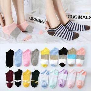 Fashion Boat Non-slip Women Breathable Stripe Low Cut Hosiery Ankle Socks