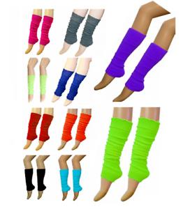 NEW GIRLS LEG WARMERS PLAIN FOOTLESS SLOUCH SOCKS DANCE BALLET FANCY DRESS HEN