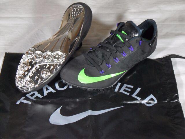 purchase cheap 4eeab 6dfdf Nike Zoom SuperFly R4 Sprint Running Track Spikes Black Green Chrome 11.5  Mens